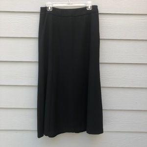 Valerie Stevens Full Wool Black Skirt 8 Petite